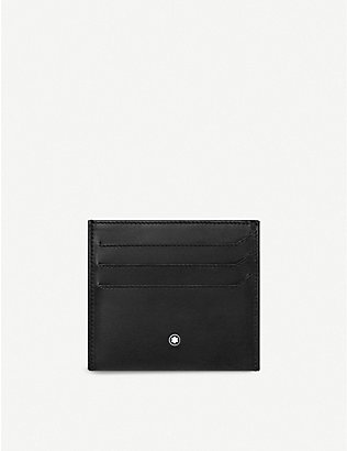 MONTBLANC: Nightflight leather card holder