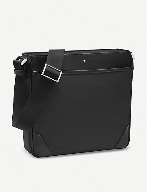 MONTBLANC: Sartorial Jet nylon and leather reporter bag
