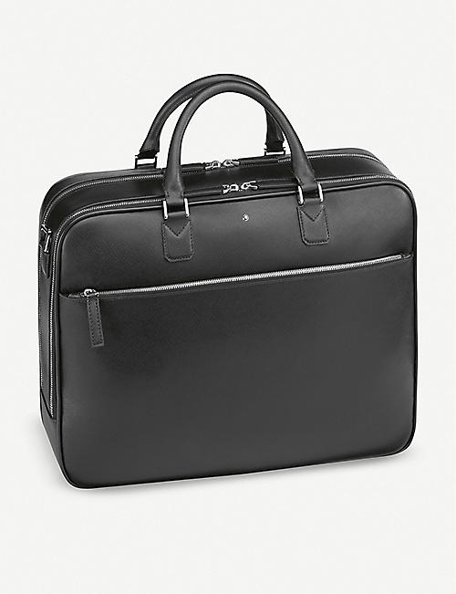MONTBLANC Sartorial large leather and nylon document case