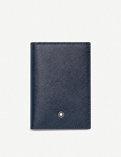 MONTBLANC: Sartorial leather business card holder with gusset