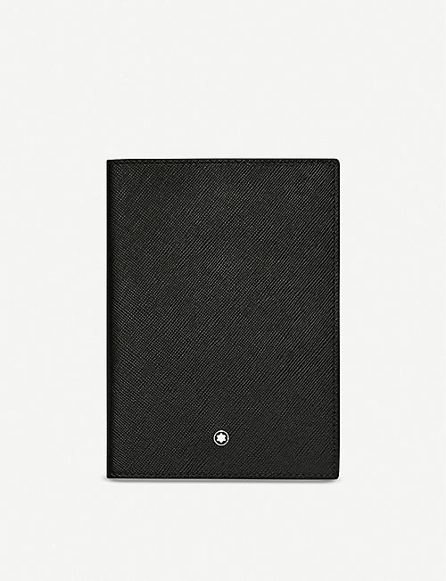 MONTBLANC: Sartorial grained-leather passport holder