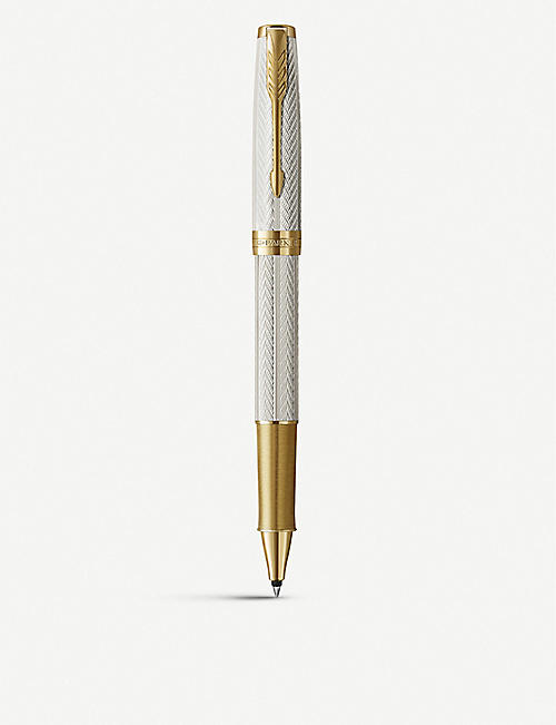 PARKER PENS: Sonnet Special Edition sterling silver and 18ct gold rollerball pen