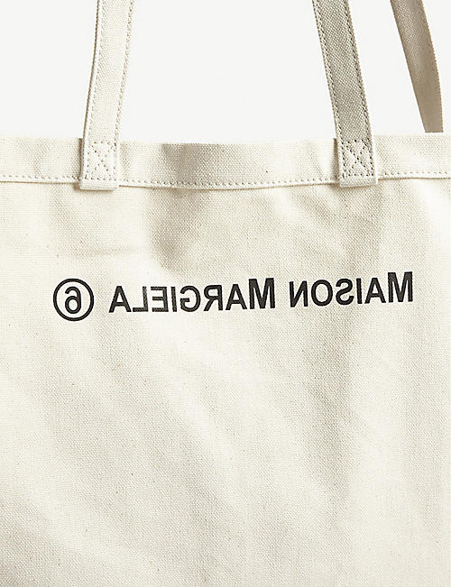 MM6 MAISON MARGIELA Oversized logo-print cotton tote bag