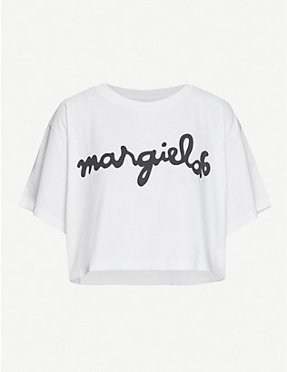 MM6 MAISON MARGIELA: Logo-print cotton-jersey T-shirt