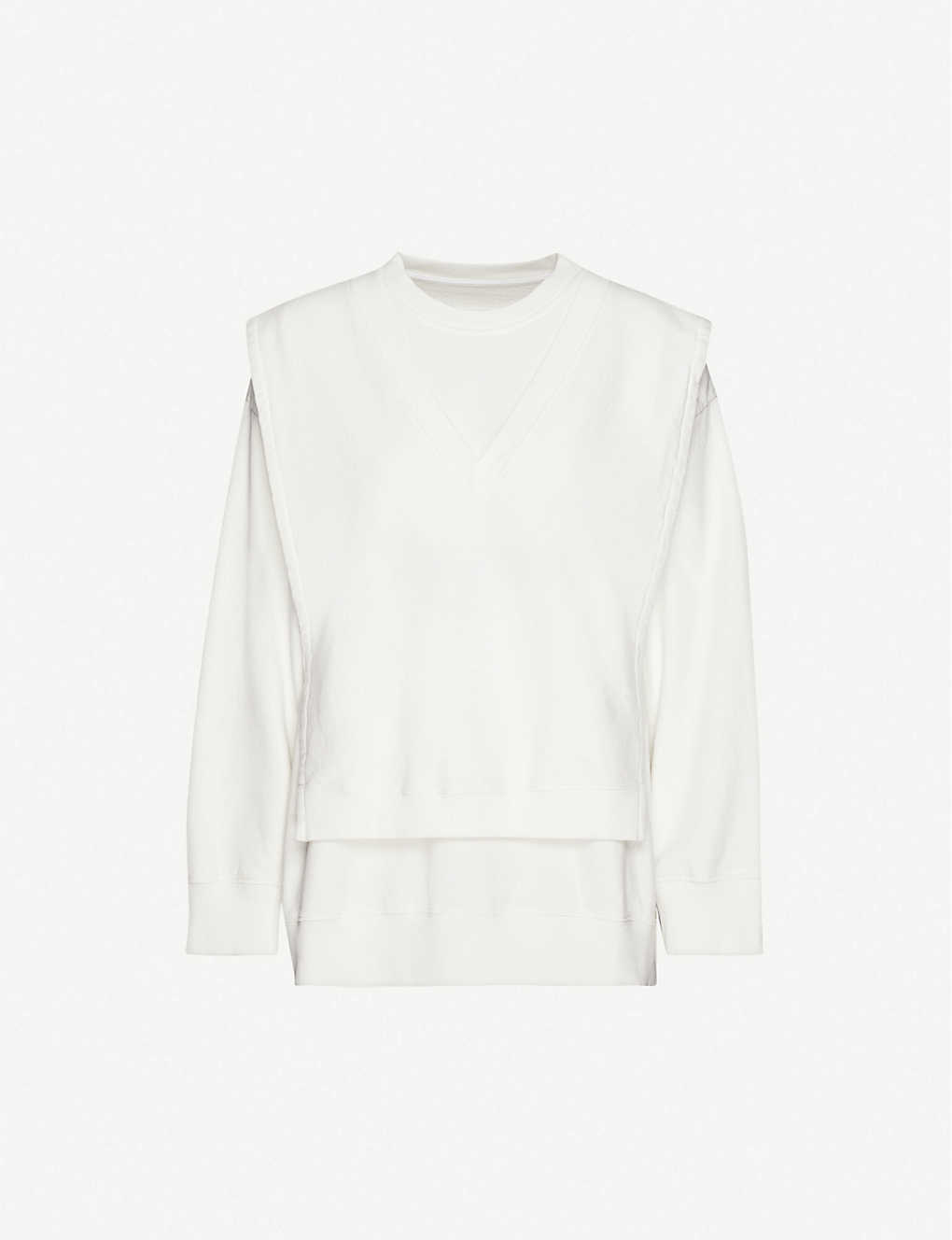 MM6 MAISON MARGIELA: Branded cotton-jersey jumper