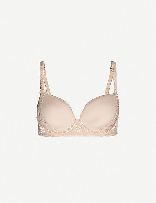 SIMONE PERELE: Promesse 3D Spacer and stretch-lace underwired plunge bra