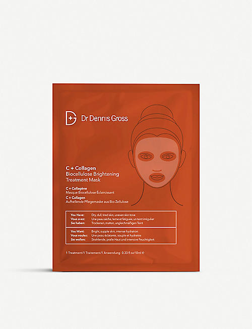 DR DENNIS GROSS SKINCARE: C+Collagen Biocellulose Brightening Treatment Mask
