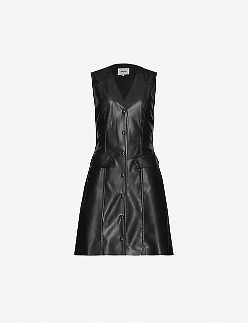 NANUSHKA Menphi sleeveless faux-leather mini dress