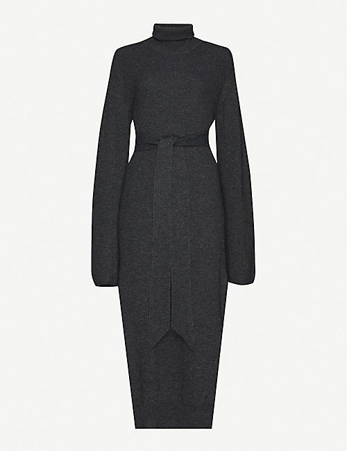 NANUSHKA Canaan turtleneck wool-blend knitted dress
