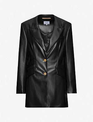 NANUSHKA Cancun padded faux-leather blazer