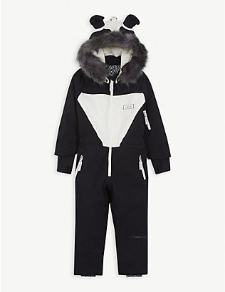 DINOSKI: Patch panda ski suit 2-7 years