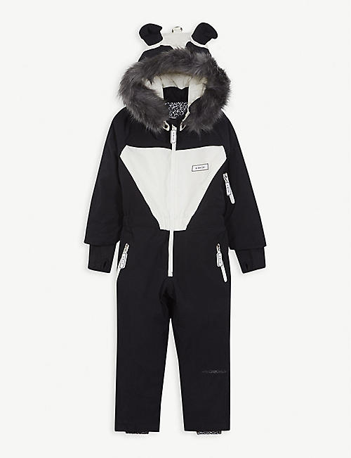 DINOSKI Patch panda ski suit 2-7 years
