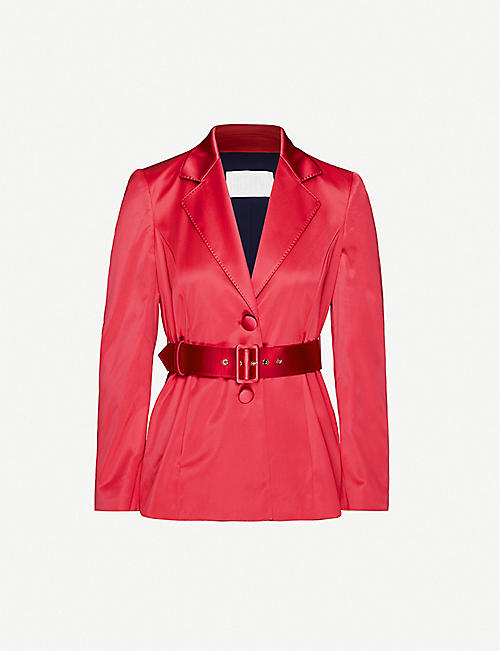 PETER PILOTTO: Notch-lapel satin blazer