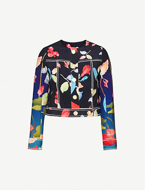 PETER PILOTTO Cropped floral-print stretch-woven jacket