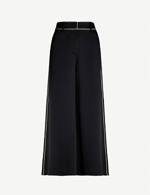 PETER PILOTTO Wide-leg high-rise satin-crepe trousers