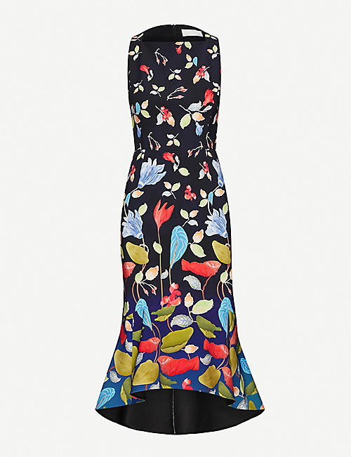 PETER PILOTTO Floral-print strapless woven midi dress