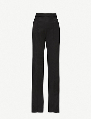 PETER PILOTTO Wide-leg high-rise satin trousers