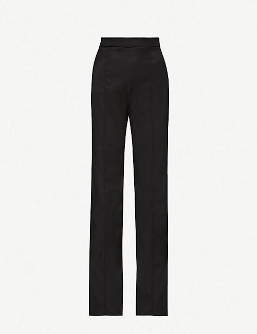 PETER PILOTTO: Wide-leg high-rise satin trousers
