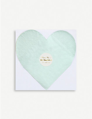 VALENTINES: Party Palette Heart Napkins pack of 20