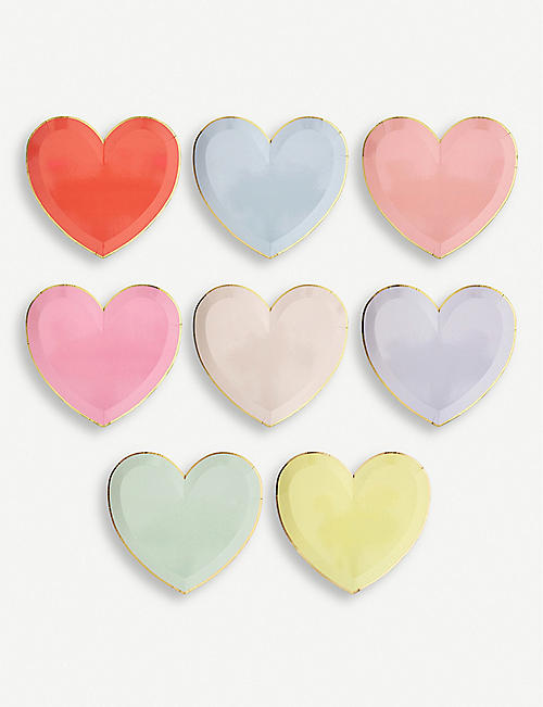 VALENTINES Party Palette heart large plates set of eight