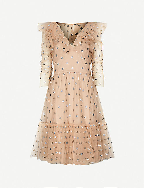TEMPERLEY LONDON Fortuna ruffled tulle mini dress