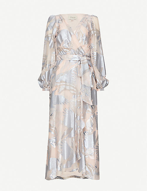 TEMPERLEY LONDON Kitty printed metallic woven maxi dress