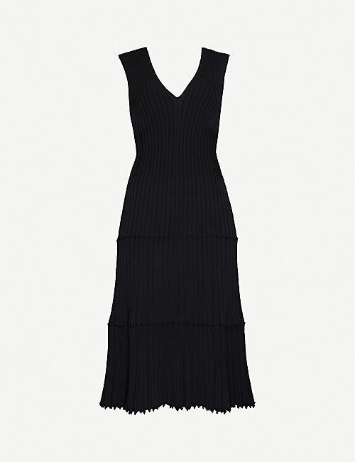 ALTUZARRA Riggs V-neck stretch-knit midi dress
