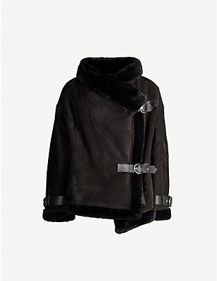SHOREDITCH SKI CLUB: Darling shearling and leather jacket