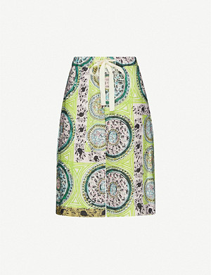 JW ANDERSON Mystic paisley-print high-rise linen shorts