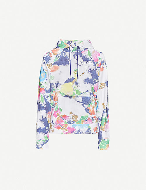 MOSCHINO Paint-print cotton-blend hoody