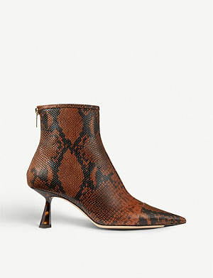 JIMMY CHOO Kix 65 snakeskin-print leather boots