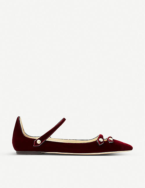JIMMY CHOO Layton velvet maryjane shoes