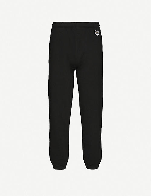 KENZO Logo-embroidered cotton jogging bottoms