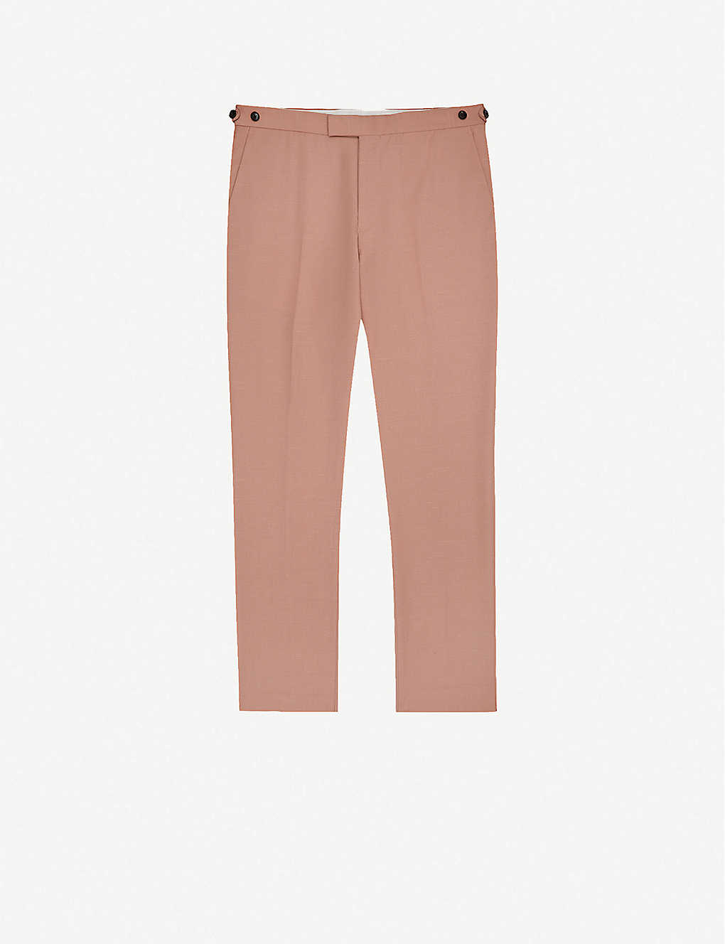 REISS: Exquisite slim-fit wool-blend trousers