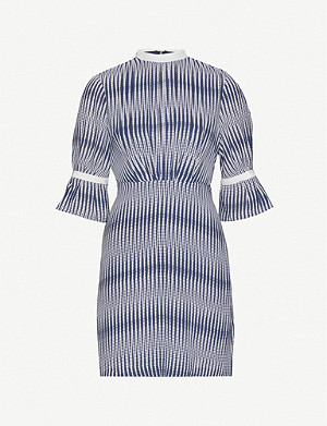 REISS Nika zig-zag print crepe dress