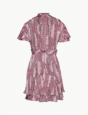 REISS Natalie printed woven mini dress