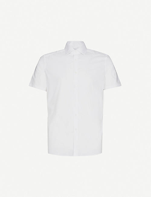 REISS: Eddie short-sleeve stretch-cotton shirt