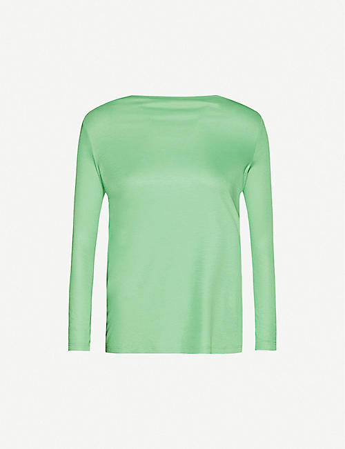 REISS Marilyn boat-neck stretch-jersey top