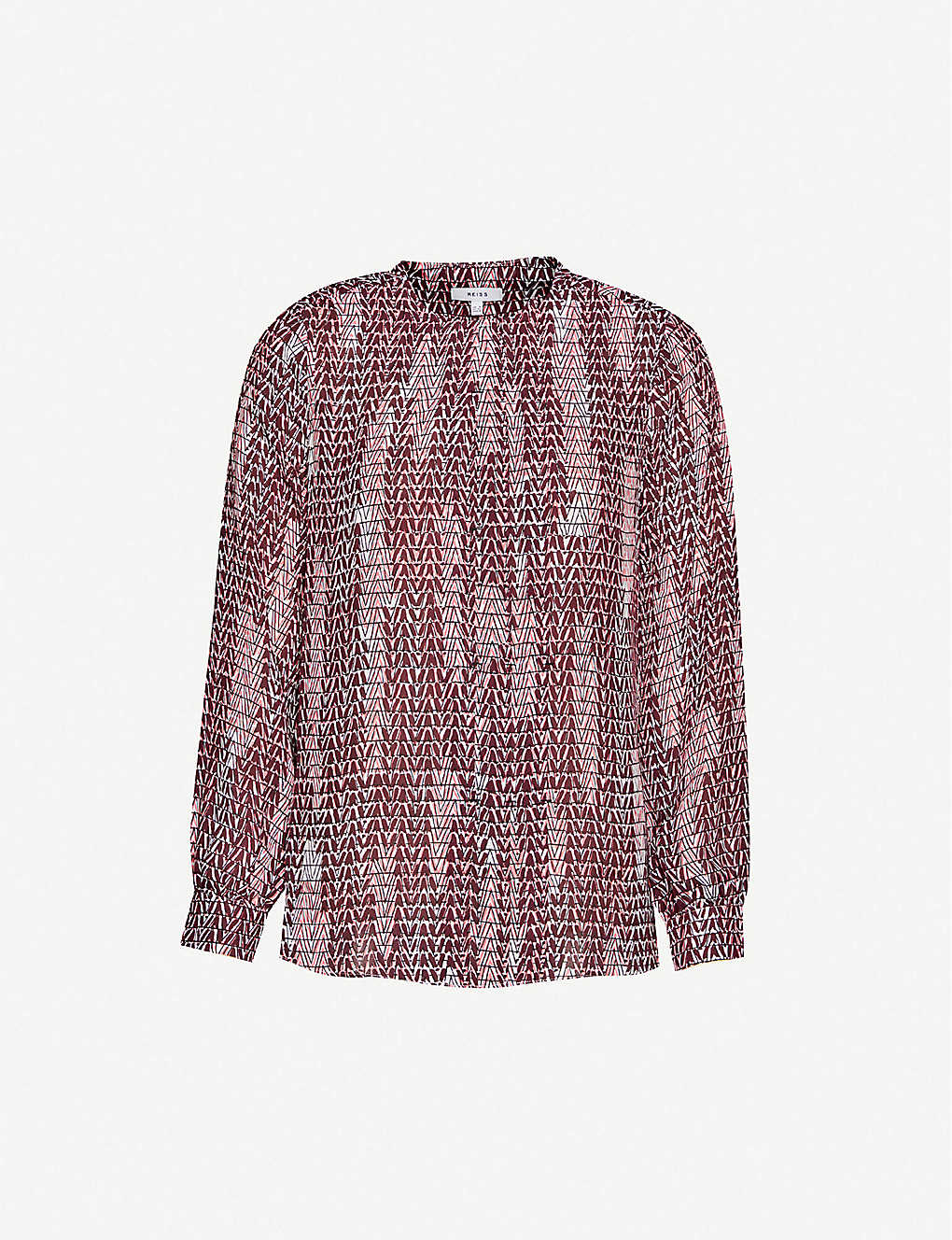 REISS: Peyton woven puff sleeves shirt