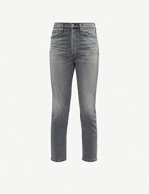 CITIZENS OF HUMANITY Olivia cropped slim-fit faded high-rise jeans
