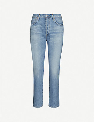 CITIZENS OF HUMANITY: Liya slim-fit tapered high-rise jeans