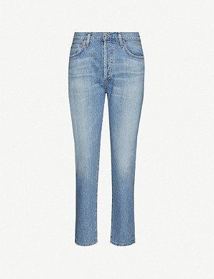 CITIZENS OF HUMANITY Liya slim-fit tapered high-rise jeans