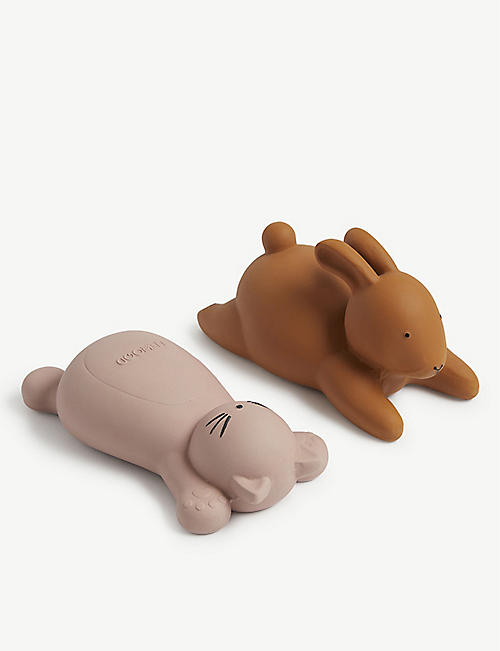 LIEWOOD: Vikky rubber bath toys set of two