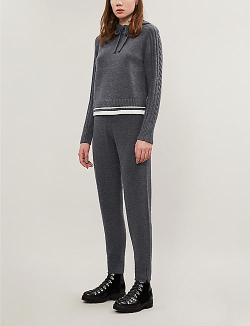 DUFFY Striped knitted hoody