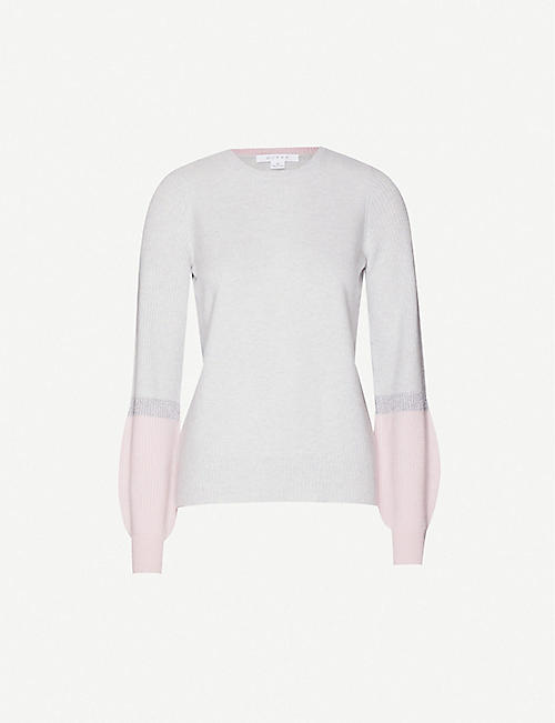 DUFFY Two-tone cashmere jumper