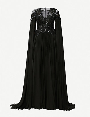 ZUHAIR MURAD: Pamplona draped embellished silk gown