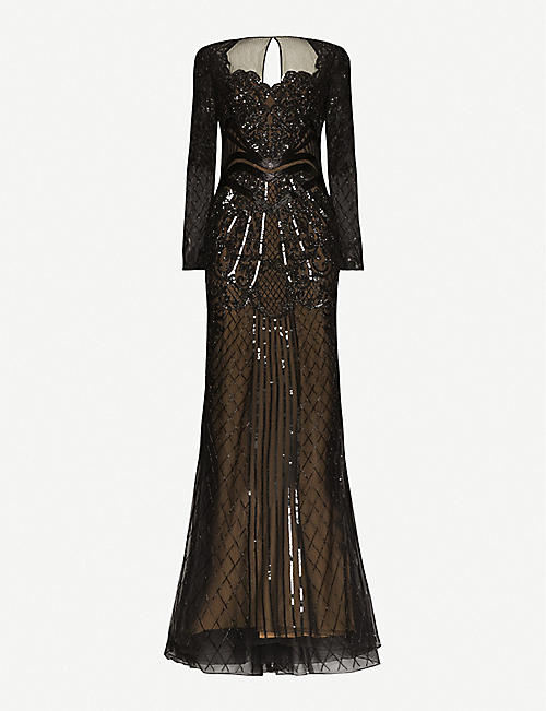 ZUHAIR MURAD: Alicante sweetheart-neckline embellished gown