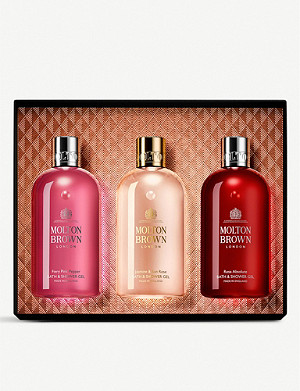 MOLTON BROWN Floral and Chypre bath and shower gel gift set of three
