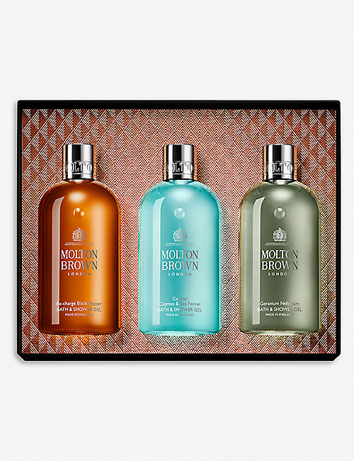 MOLTON BROWN Spicy and Aromatic bath and shower gel gift set of three