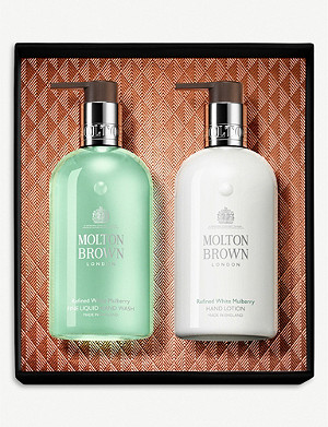 MOLTON BROWN Refined White Mulberry hand wash & lotion set